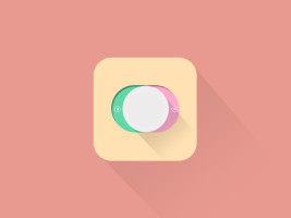 free iphone app icon template with long shadow
